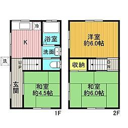 [一戸建] 東京都江東区北砂6丁目 の賃貸【/】の間取り