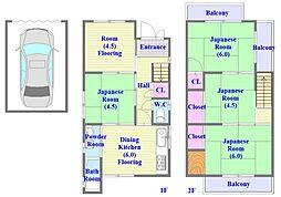 [一戸建] 兵庫県神戸市垂水区川原3丁目 の賃貸【/】の間取り