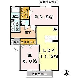 カリーノC棟[2階]の間取り
