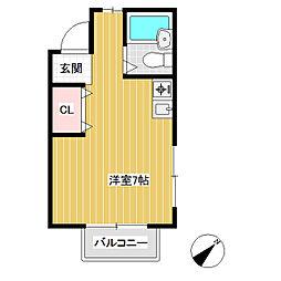 上松2丁目アパート[2階]の間取り