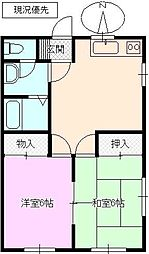 長野県長野市大字北堀の賃貸アパートの間取り