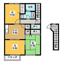 コンフォートヒルB[2階]の間取り