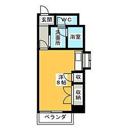 クレセントコート静岡[2階]の間取り