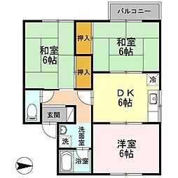 フラッツ成田[1階]の間取り
