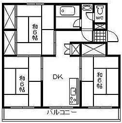 富士コーポ[203号室]の間取り