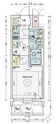 エステムコート梅田・天神橋IVステーションフロント 2階1Kの間取り