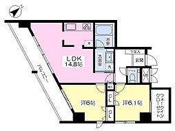 東亜建設第10ビル[502号室]の間取り