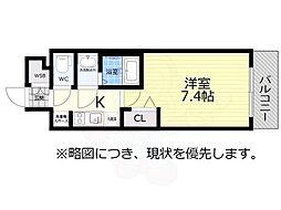 アドバンス名古屋モクシー 3階1Kの間取り