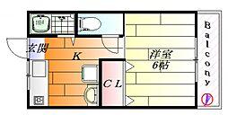 ポルベーラ シュン[1階]の間取り