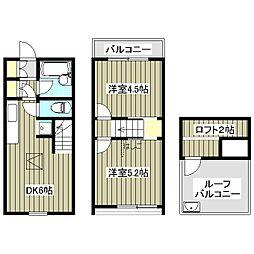 [テラスハウス] 千葉県船橋市松が丘1丁目 の賃貸【/】の間取り