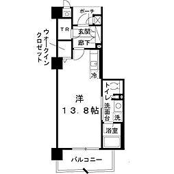 ロイヤルパークス桃坂[1310号室]の間取り