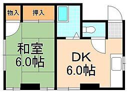 大和マンション[5階]の間取り
