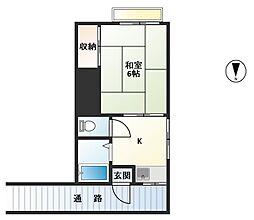 第2若葉荘[7号室号室]の間取り