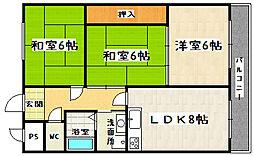 カワナカマンション[3-C号室]の間取り
