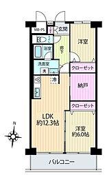 ニューライフマンション木場[9階]の間取り