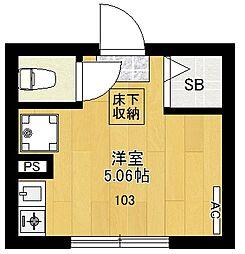 RE東高円寺[103号室]の間取り
