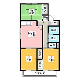 エスポワールハイム A棟[2階]の間取り