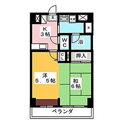 BES仙台新寺コート[6階]の間取り