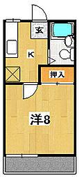 マンハイツII[2階]の間取り
