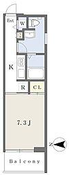 La Fite KARASUMA 1階1Kの間取り