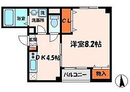 コート八重桜[2階]の間取り