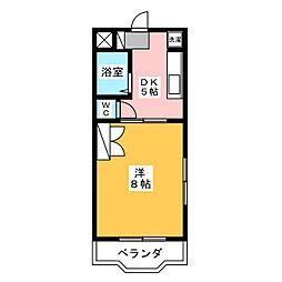 杉の社ハイツ[2階]の間取り