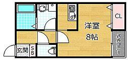 プラリア新之栄町[2階]の間取り