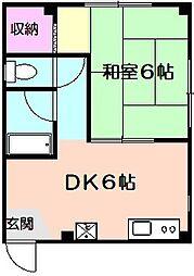 ユウキビル[2階]の間取り