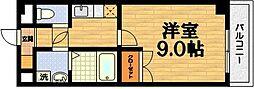 京都府京都市伏見区深草ヲカヤ町の賃貸マンションの間取り