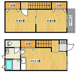新潟県新潟市東区向陽3丁目の賃貸アパートの間取り
