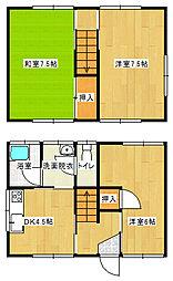 [一戸建] 愛媛県新居浜市清水町 の賃貸【/】の間取り