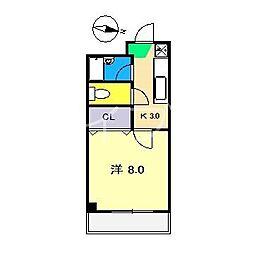 コンフォート鏡川[3階]の間取り