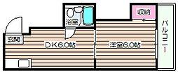コーポ大淀[4階]の間取り