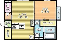 moreplus砂津(モアプラス)[1階]の間取り