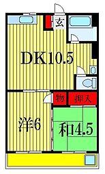 上山コーポ[2階]の間取り