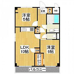 大阪府堺市東区菩提町3丁の賃貸マンションの間取り