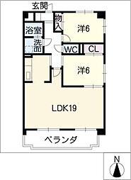 ビューハイツマルヤマ[1階]の間取り