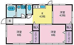 [一戸建] 山梨県中央市西新居 の賃貸【/】の間取り