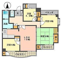 シティーマンション高針[4階]の間取り