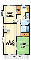 スカイハイムヤザワ[201号室]の間取り