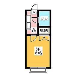 亀尻ハイム[2階]の間取り