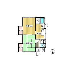 田間アパート[1階]の間取り