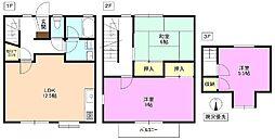 [テラスハウス] 長野県松本市城山 の賃貸【長野県 / 松本市】の間取り
