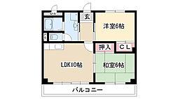 愛知県名古屋市緑区相原郷1丁目の賃貸マンションの間取り