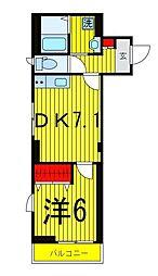 ヴィラM2[3階]の間取り