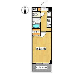 クリスタルコート学園[3階]の間取り