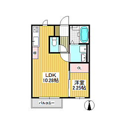 Reflet(ルフレ) A棟[2階]の間取り
