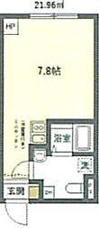 JR京浜東北・根岸線 鶯谷駅 徒歩6分の賃貸マンション 3階ワンルームの間取り
