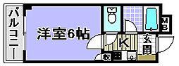 ドミール小松里[205号室]の間取り