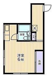 コーポ宮下[3階]の間取り